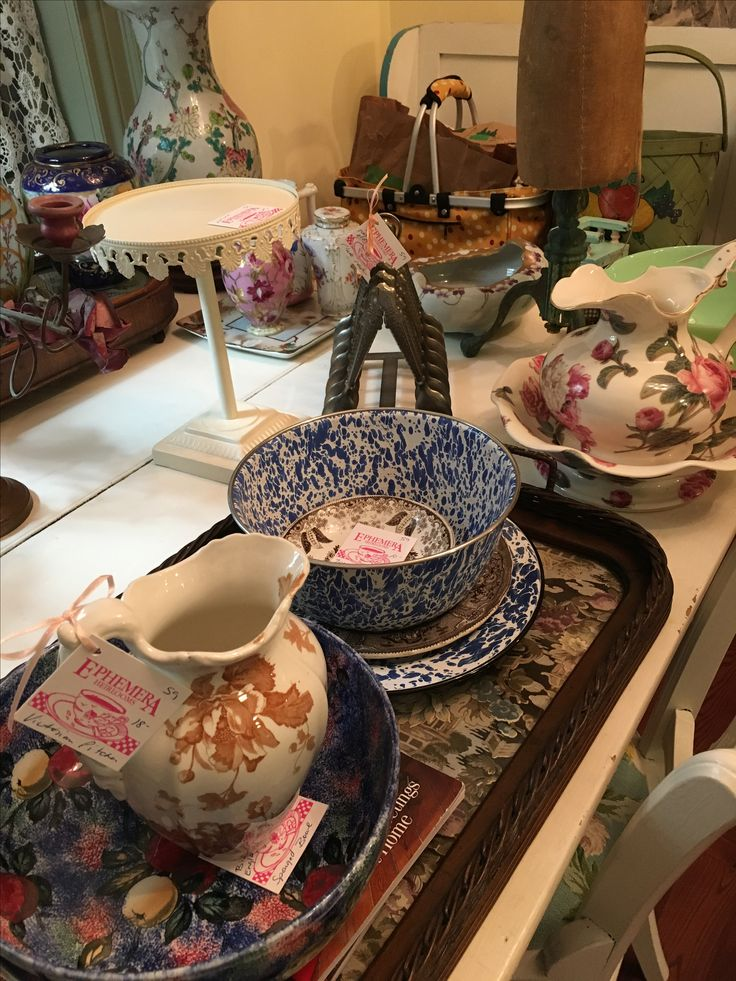 A group of lovely items, ready to go to my booth in Vineland,Ont.