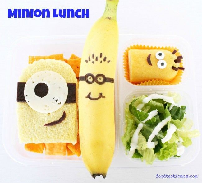 Minion Lunch...So help me, next time I pack a lunch for someone, whether it's Danny or not... This. Is. Happening.