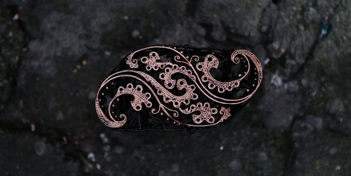 Copper stamp from Batik Fractal