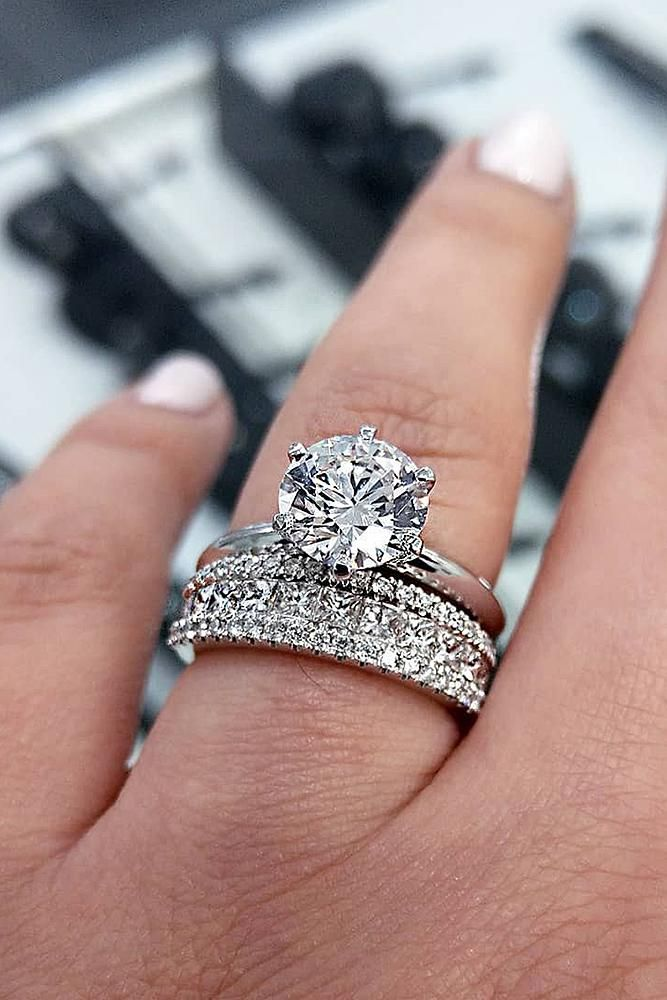 Stunning Bridal Sets That Will Melt Her Heart Wedding Forward Wedding Ring Sets Unique Engagement Rings Engagement Ring White Gold