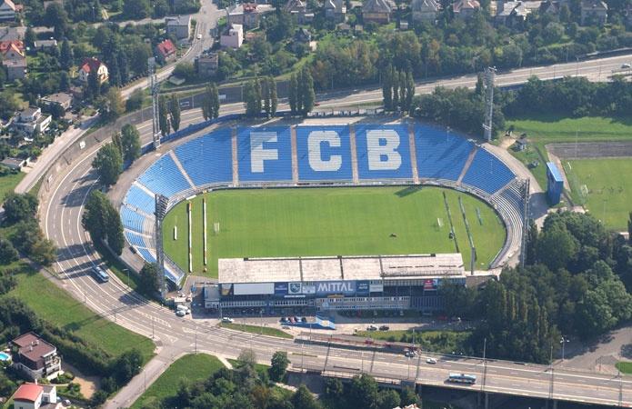 Bazaly Stadium in Ostrava, Czech Republic. Home of FC Baník Ostrava, football team. // Stadion Bazaly, Ostrava. Domov FC Baník Ostrava.