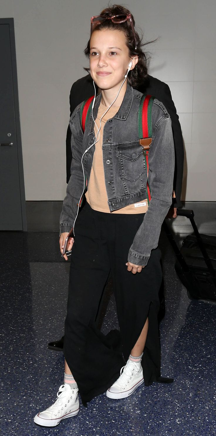 Celebrity-Inspired Outfits to Wear on a Plane - Millie Bobby Brown from InStyle.com