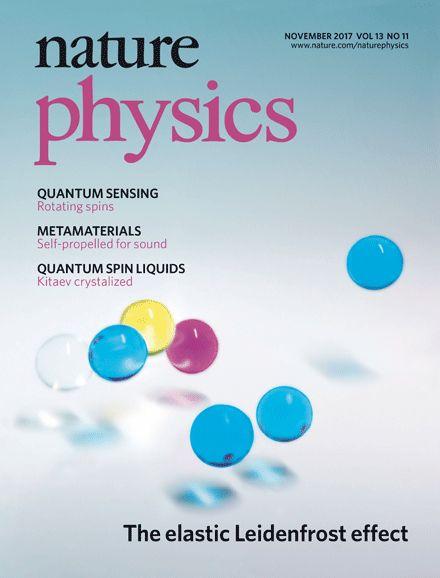 Scott Waitukaitis and group leader Martin van Hecke make the cover of Nature Physics!