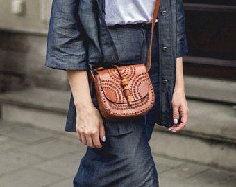 Chota, handmade leather bag, shoulder bag, leather bag, handmade bag for women, BOLSON BAGS