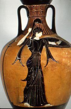 Beautiful image of Athena on a vase.