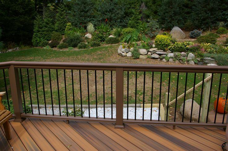 handrails for decks   Fiberon Two Level Deck   Custom Decks of Fairfield County Connecticut ...