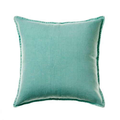 Luxurious Vintage Washed Linen has been used to create this deluxe cushion from the Home Republic range. In a cool spearmint and generous 60x60cm size. $70