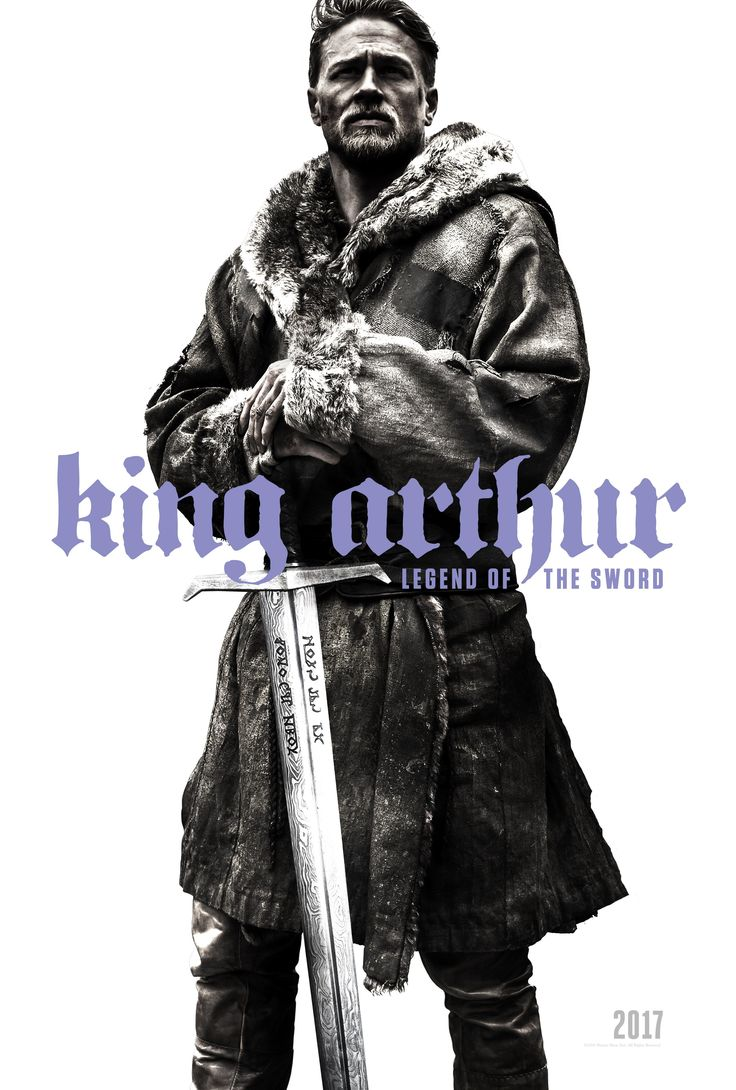 We might just get a trailer at some point over SDCC weekend, but for now take a look at the first teaser poster for Guy Ritchie's take on the King Arthur legend, starring Charlie Hunnam as the mythical monarch...