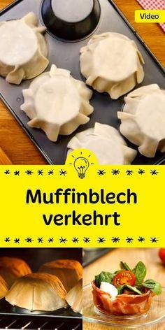Party Food mit Muffinsblech verkehrt rum - um tolle Füllungen reinzumachen *** Great upside down Muffin Pan Recipe