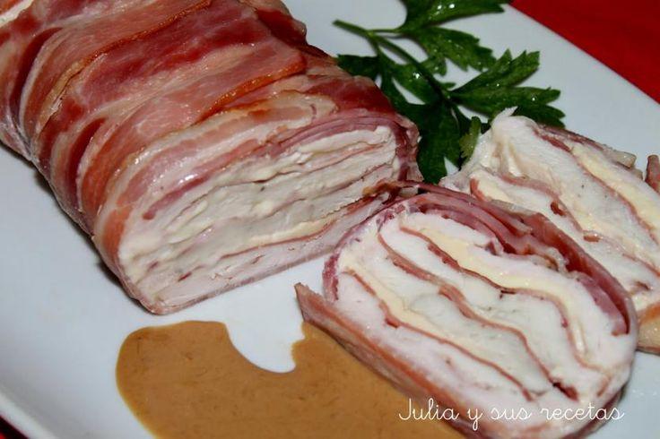 Receta de Pastel de pollo y bacon | Eureka Recetas