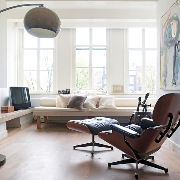 The Eames recliner and ottoman.  I once did a book layout for a college design project, I featured this Eames chair on one of my large spreads.  I love their furniture!