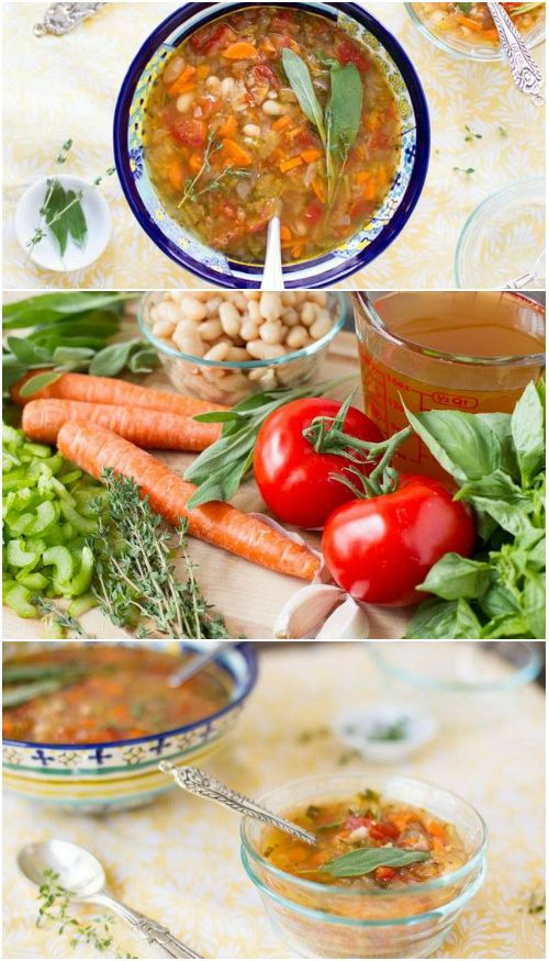 Mild cannellini beans bring texture while Italian herbs bring the wonderful flavor to this easy Tuscan white bean soup.