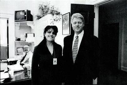 Presiden tBill Clinton & girlfriend Monica Lewinsky in the White House