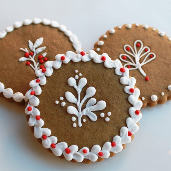 Winterberry Cookie Gift Set  Half Dozen by whippedbakeshop on Etsy, $20.00