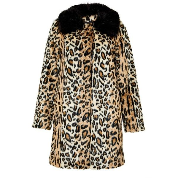 Hallhuber Leopard Print Crop Coat Made Of Faux Fur ($270) ❤ liked on Polyvore featuring outerwear, coats, women coats & jackets, leopard print coat, cropped faux fur coat, cropped coat, hallhuber and leopard faux fur coat