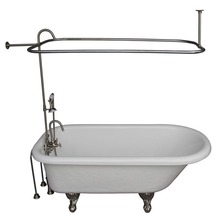 Barclay Products 2 Handle Claw Foot Tub
