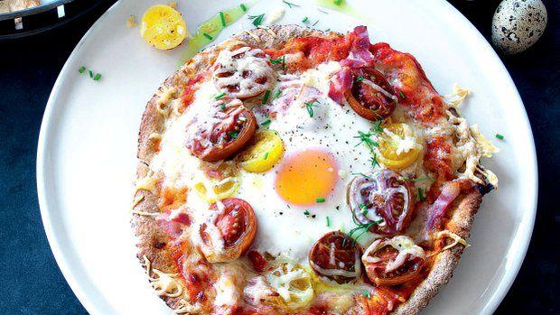 Vaječná pizza z pita chleba  Foto: