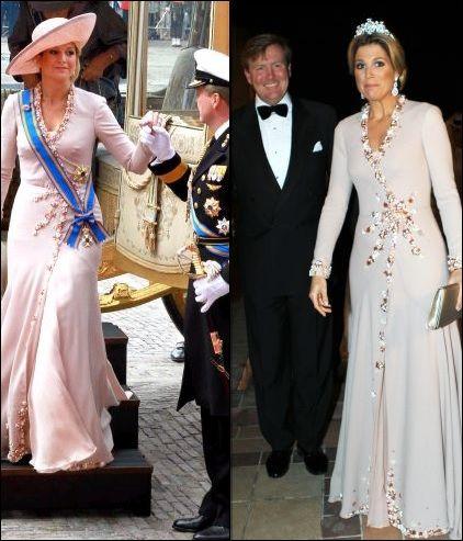 De jurk van 2010 was ook afkomstig van Jan Taminiau. De jurk zagen we eenmaal terug tijdens het staatsbezoek aan Qatar.