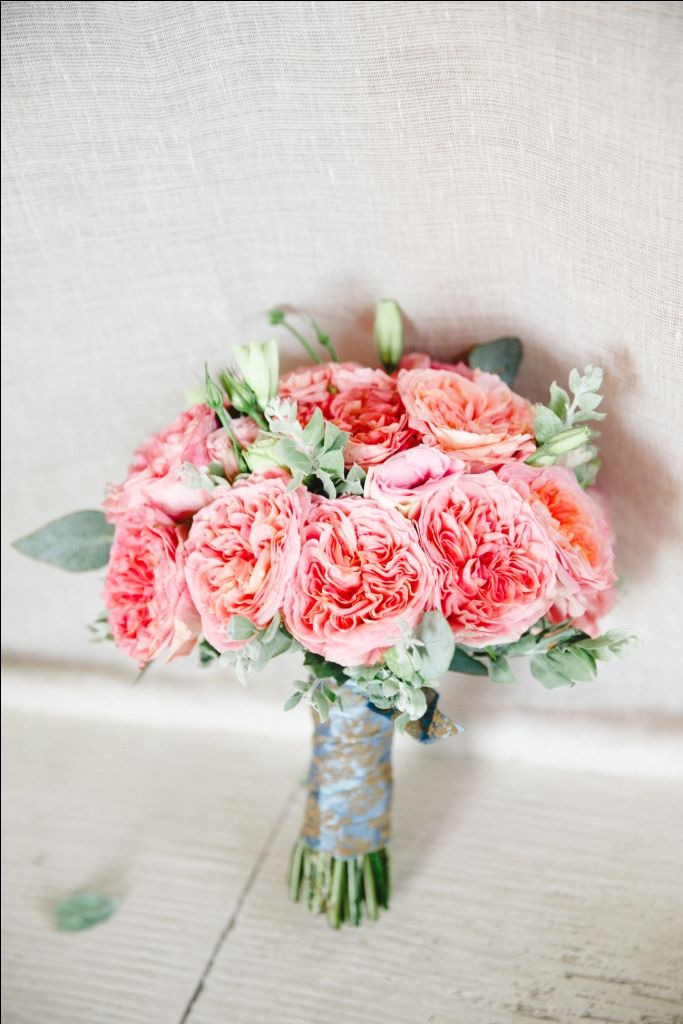 Bride's Bouquet in Coral Pink