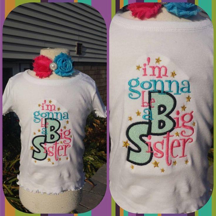 big sister shirt by AMcutetutuboutique on Etsy https://www.etsy.com/listing/261746258/big-sister-shirt