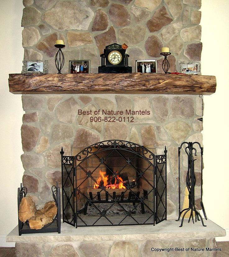 78 Best Ideas About Rustic Fireplace Mantels On Pinterest