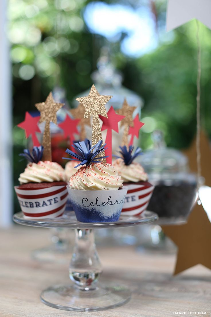 Cupcake Decorations For 4th of July