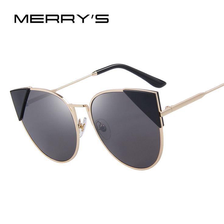 MERRY'S Women Cat Eye Sunglasses Brand Designer Retro Pierced Female Sun Glasses Classic Shades S'8070  #men #me #sunshades #love #fashionweek #belts #selfie #kids #graduation #bride #accessories #mensfashion #trendy #smartwatch #newarrivals