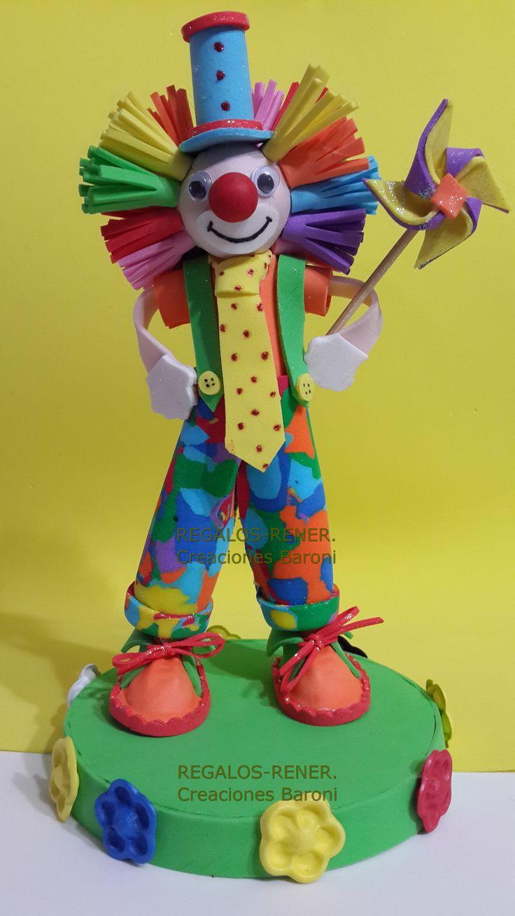 Clown Cake Decoration Adorno De Torta Payaso En Goma Eva