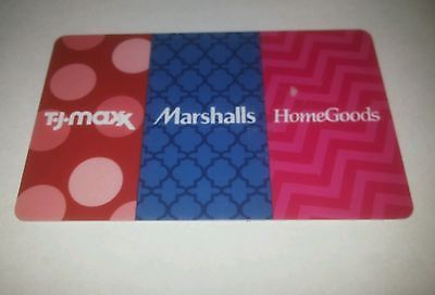 Coupons GiftCards MARSHALLS, TJ MAXX, HOME GOODS Gift