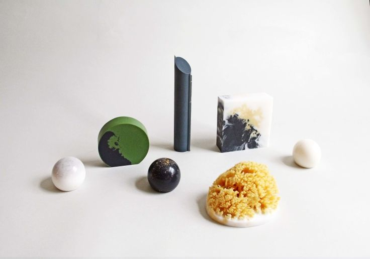 Sculpture or soap? Or a bit of both? Pelle Designs introduces Folly - a series of sculpted soaps using natural ingredients such as activated charcoal, pumice and sea sponge to create an intriguing bathroom installation.
