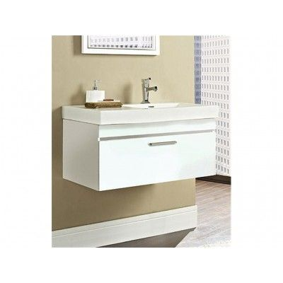 "Fairmont Designs Metropolitan 36"" Wall Vanity & Sink Set - Gloss White 177-WV36R USD 1200"