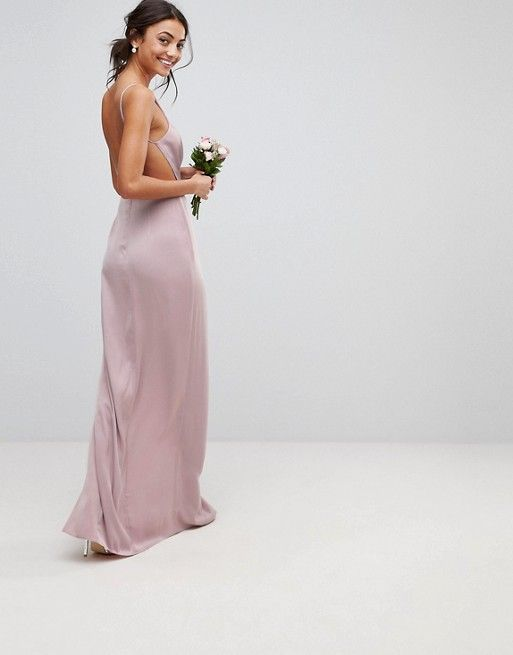 1b9b2b908d DESIGN Tall drape front strappy back maxi dress