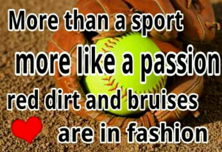 It more than a sport more like a passion red dirt and bruises are in fashion. The wind of the pitch the scrambling defense. Yelling coaches waving their hands screaming parents in the stands this is softball the game I love THIS IS MY GAME!