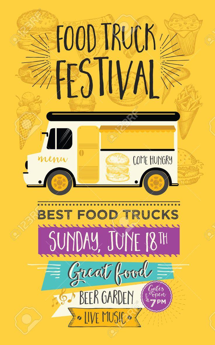 25 of the best food truck designs design galleries paste - 56679822 Food Truck Festival Menu Food Brochure Street
