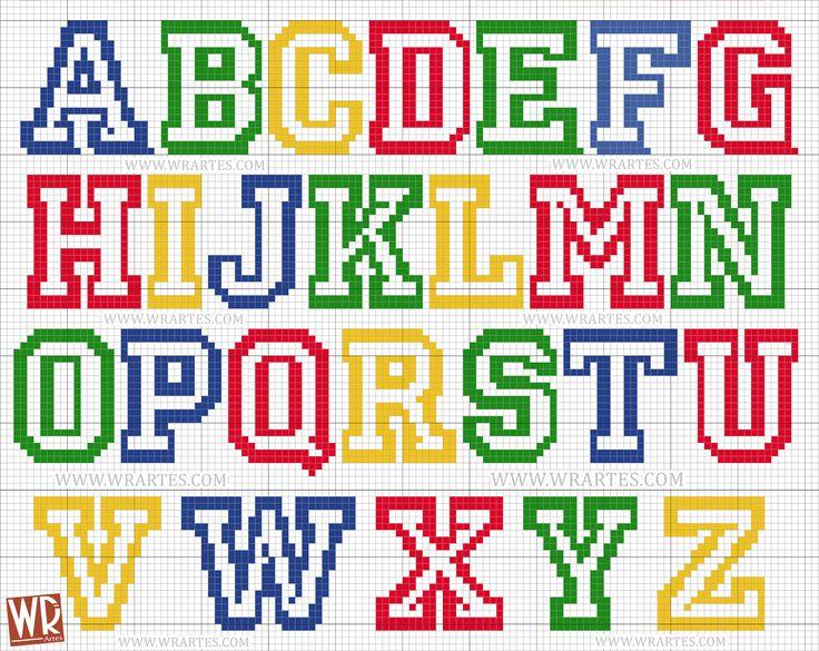 Gráfico alfabeto infantil para ponto cruz All Star Mais