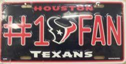 Houston Texans Fan Metal Novelty License Plate