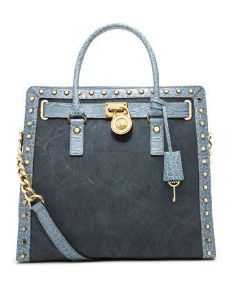 Hamilton Studded Canvas Tote by MICHAEL Michael Kors at Neiman Marcus.