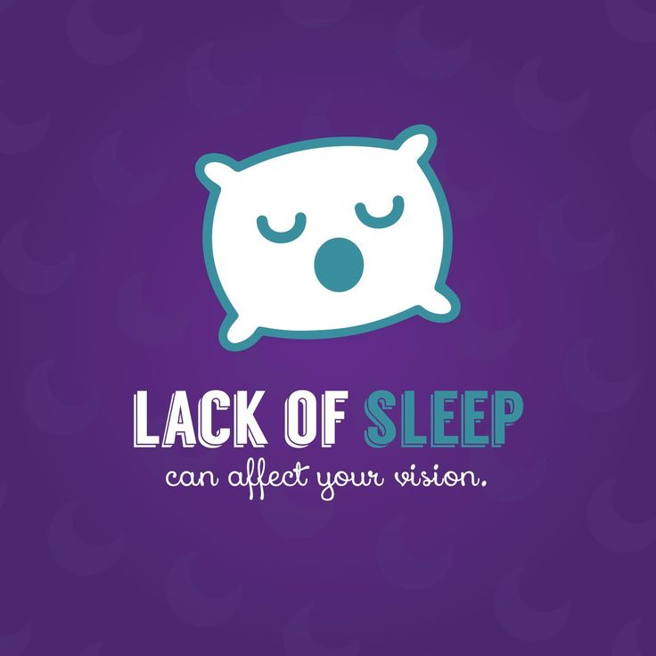 SLEEP DEPRIVATION affects your vision—causing tunnel vision, double vision, dimness, eye strain, and dry eye! Be sure to get a good night's rest whenever possible. #Insomniafacts