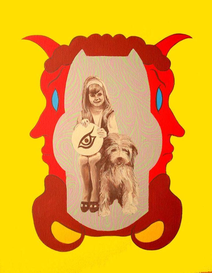 Little Tracy, Acrylic on canvas, 40 x 50 cms.
