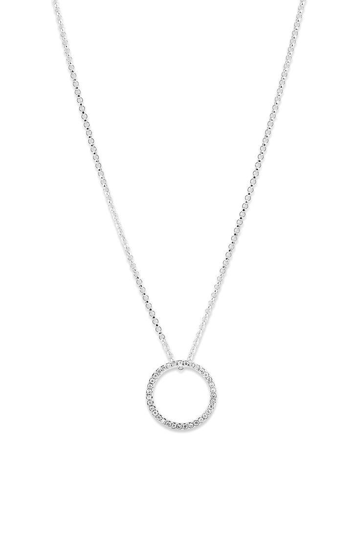 Witgouden hanger met diamant 196750DD - Hangers - Sieraden