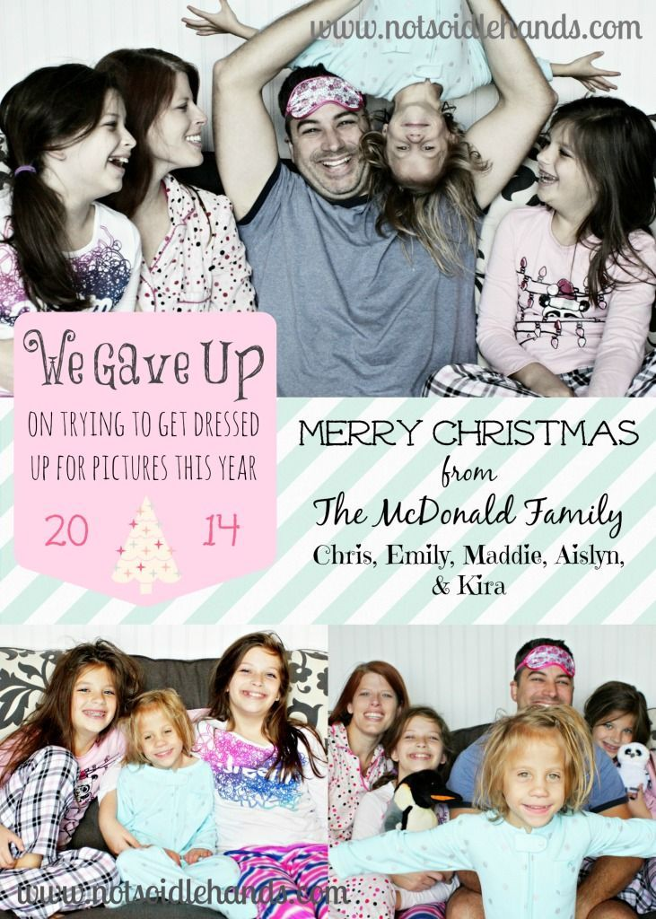 Our Funny and Unique Christmas Card and Photo Idea