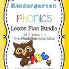 Kindergarten Phonics Lesson Plan Bundle for Fundations Unit 2 Weeks 1- 4 by Teach to Inspire includes four full weeks of Fundations lesson plans wi...