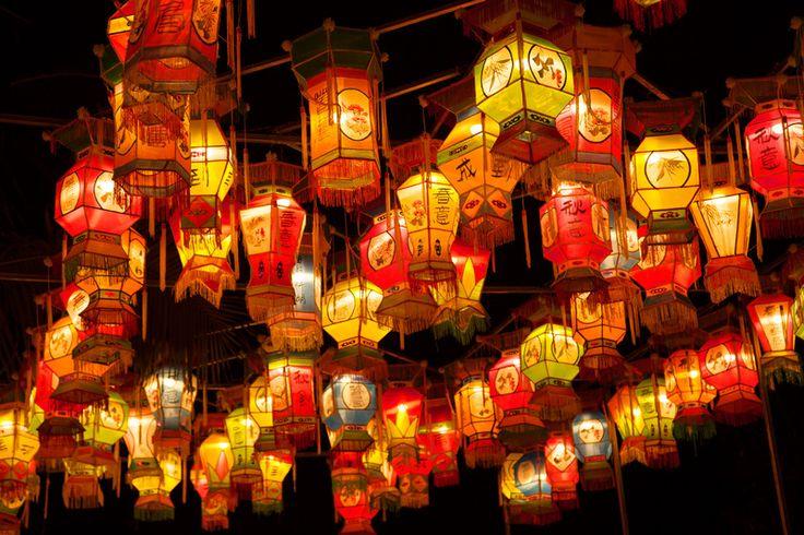 la fête des lanternes en Chine. C'est toujours 15 jours