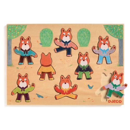 "Djeco Ξύλινα Σφηνώματα ""Ασκήσεις γυμναστικής με την αλεπού"" Foxymatch"