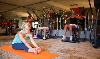 Floor work is always in style at the Fitness Center.