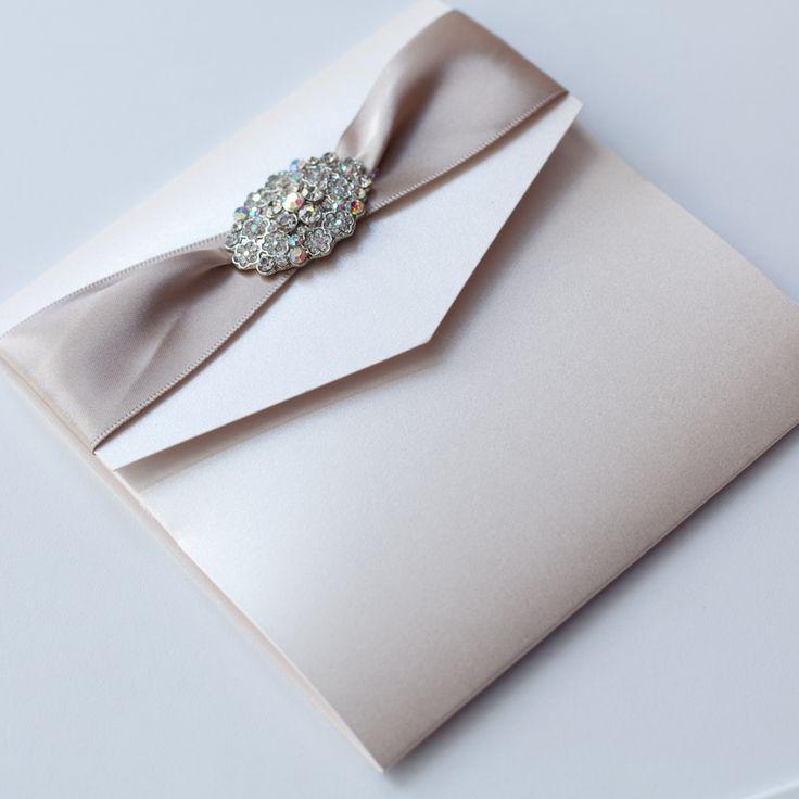 Ivory vintage pocketfold wedding invitation with vintage for Pocketfold wedding invitations scotland