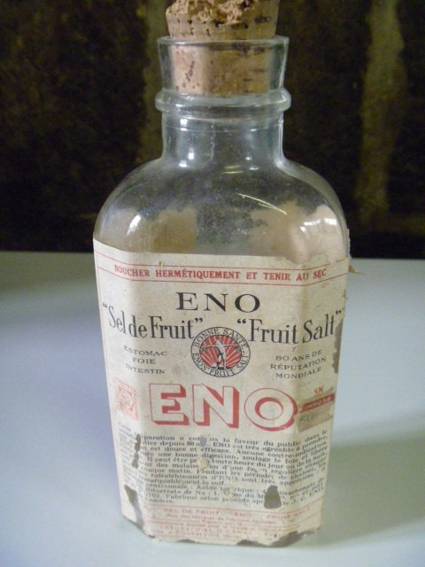 Rare  1930's  Eno Fruit Salts Bottle with Label by GlassEyedGoblin, €18.00
