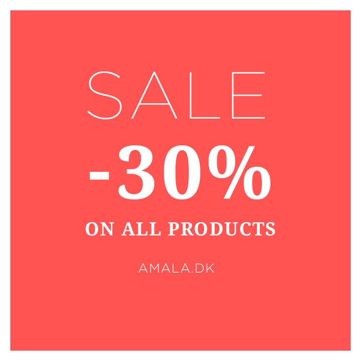 Psst... The sale hase started over at www.amala.dk! You can now get a whopping 30% discount on all products!