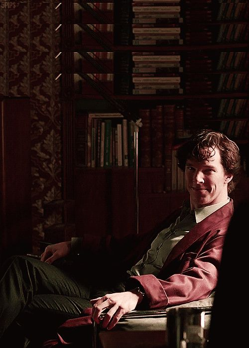 Can I just say how much I love that robe in that scene? And that smile? So attractive