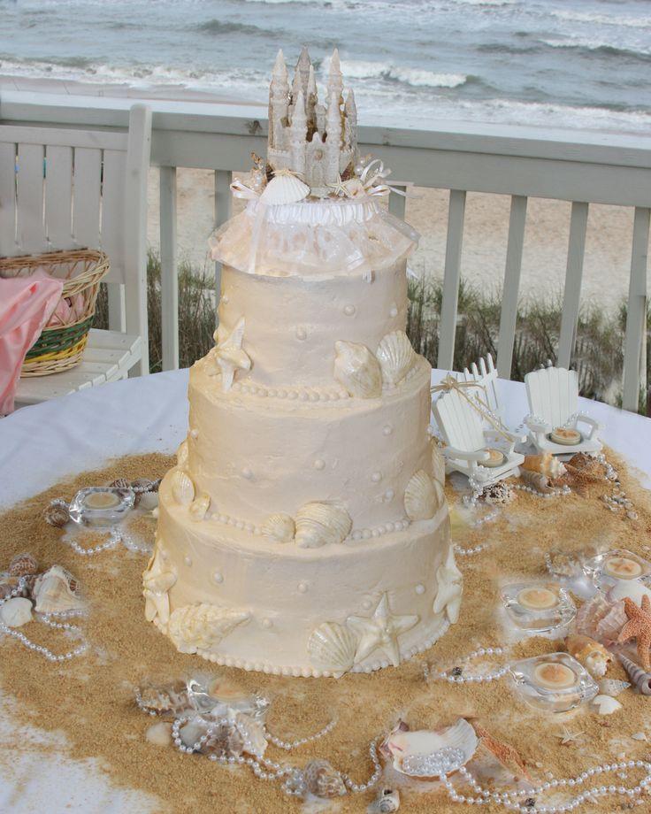 Square Sandcastle Wedding Cake